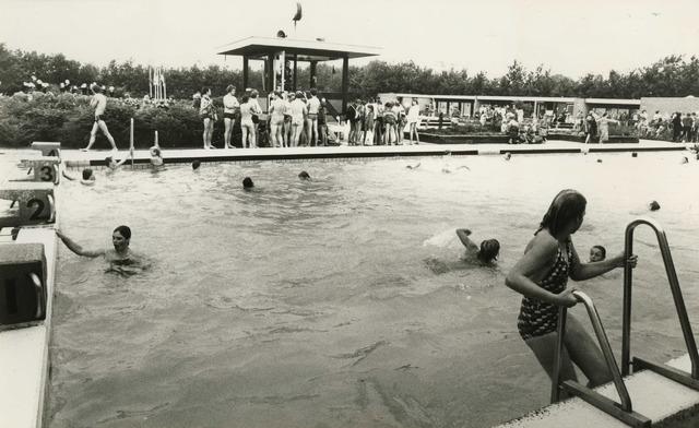 Zwemmen Zwemfeest In Zwembad Vlasmeer