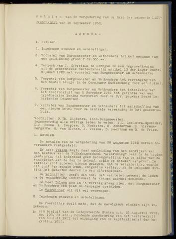 Notulen van de gemeenteraad van Leeuwarderadeel 1952-09-25