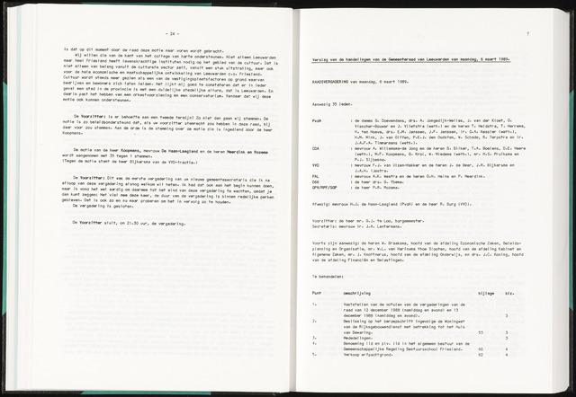 Raadsverslagen van de gemeente Leeuwarden, 1865-2007 (Notulen) 1989-03-06