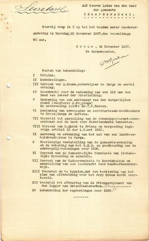 raadsverslagen Idaarderadeel 1935-1983 1937-11-22