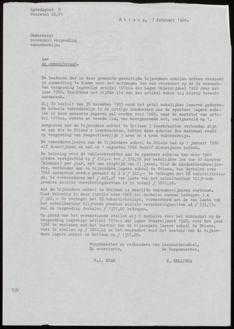Notulen van de gemeenteraad van Leeuwarderadeel 1966-02-07