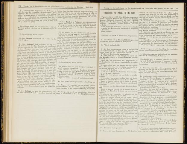 Raadsverslagen van de gemeente Leeuwarden, 1865-2007 (Notulen) 1909-05-25