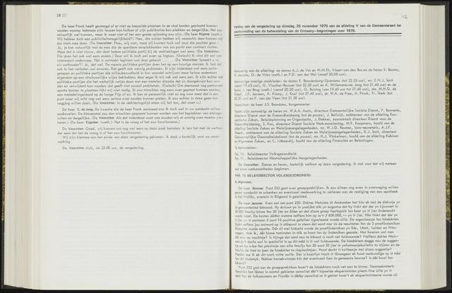 Raadsverslagen van de gemeente Leeuwarden, 1865-2007 (Notulen) 1975-11-25
