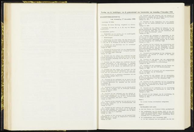 Raadsverslagen van de gemeente Leeuwarden, 1865-2007 (Notulen) 1958-12-17