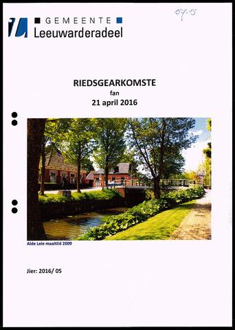 Notulen van de gemeenteraad van Leeuwarderadeel 2016-04-21