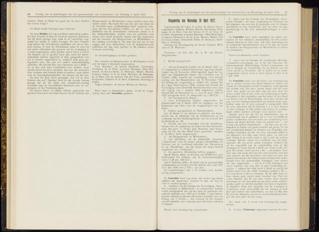Raadsverslagen van de gemeente Leeuwarden, 1865-2007 (Notulen) 1927-04-20
