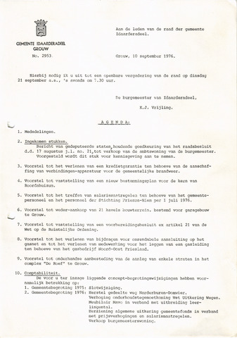 raadsverslagen Idaarderadeel 1935-1983 1976-09-21