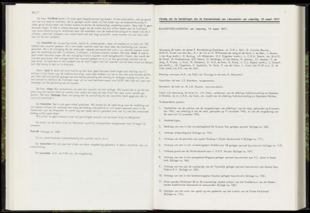 Raadsverslagen van de gemeente Leeuwarden, 1865-2007 (Notulen) 1977-03-14