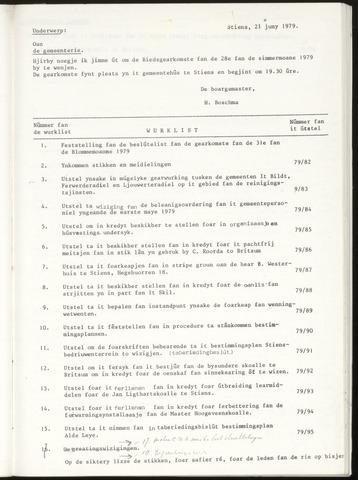 Notulen van de gemeenteraad van Leeuwarderadeel 1979-06-28