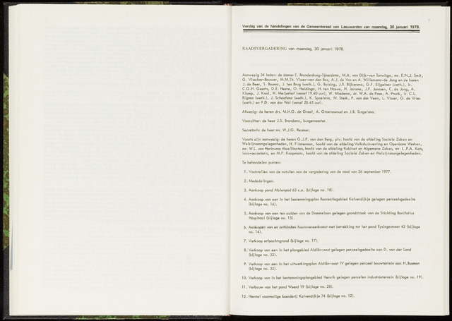Raadsverslagen van de gemeente Leeuwarden, 1865-2007 (Notulen) 1978-01-30