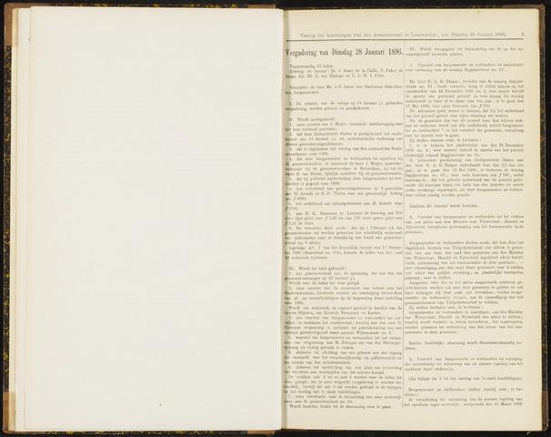 Raadsverslagen van de gemeente Leeuwarden, 1865-2007 (Notulen) 1896-01-28