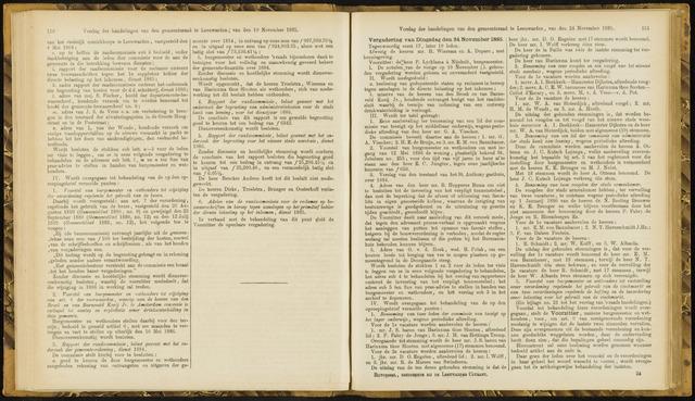 Raadsverslagen van de gemeente Leeuwarden, 1865-2007 (Notulen) 1885-11-24