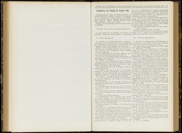 Raadsverslagen van de gemeente Leeuwarden, 1865-2007 (Notulen) 1909-10-26