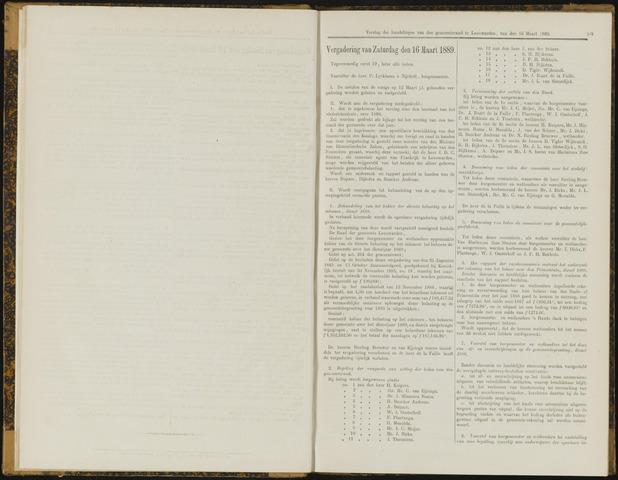 Raadsverslagen van de gemeente Leeuwarden, 1865-2007 (Notulen) 1889-03-16