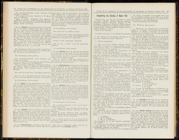 Raadsverslagen van de gemeente Leeuwarden, 1865-2007 (Notulen) 1913-03-11