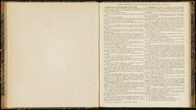 Raadsverslagen van de gemeente Leeuwarden, 1865-2007 (Notulen) 1874-04-09