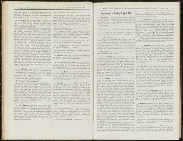 Raadsverslagen van de gemeente Leeuwarden, 1865-2007 (Notulen) 1906-04-10
