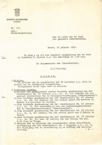 raadsverslagen Idaarderadeel 1935-1983 1963