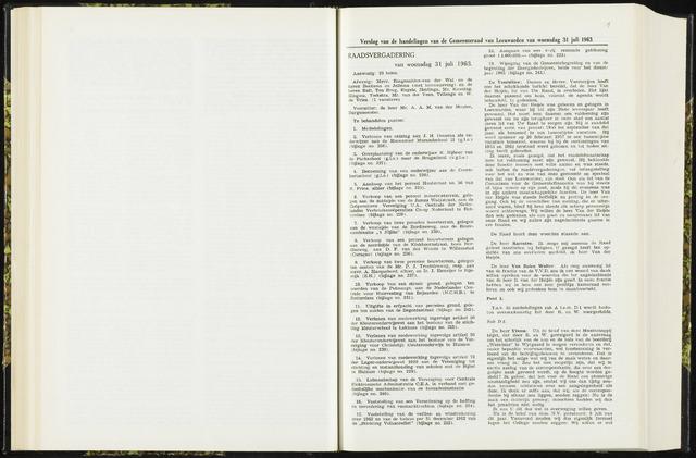 Raadsverslagen van de gemeente Leeuwarden, 1865-2007 (Notulen) 1963-07-31