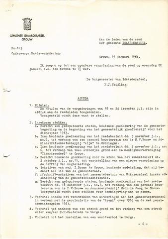 raadsverslagen Idaarderadeel 1935-1983 1964