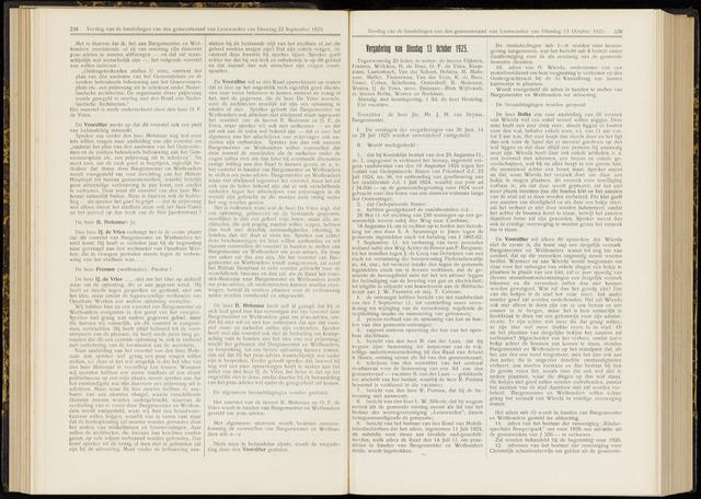 Raadsverslagen van de gemeente Leeuwarden, 1865-2007 (Notulen) 1925-10-13