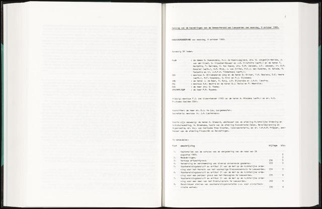 Raadsverslagen van de gemeente Leeuwarden, 1865-2007 (Notulen) 1989-10-09