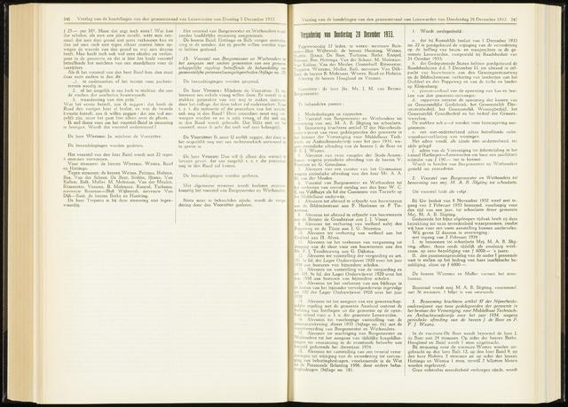 Raadsverslagen van de gemeente Leeuwarden, 1865-2007 (Notulen) 1933-12-28