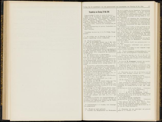 Raadsverslagen van de gemeente Leeuwarden, 1865-2007 (Notulen) 1914-05-26