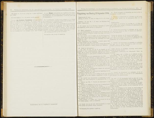 Raadsverslagen van de gemeente Leeuwarden, 1865-2007 (Notulen) 1894-09-25