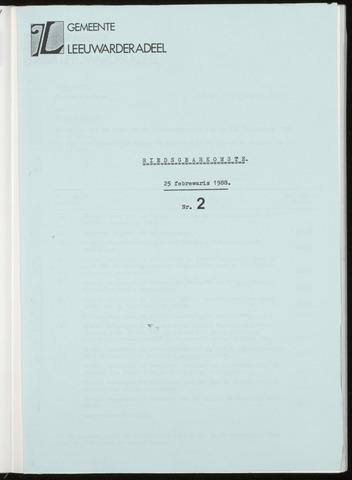 Notulen van de gemeenteraad van Leeuwarderadeel 1988-02-25
