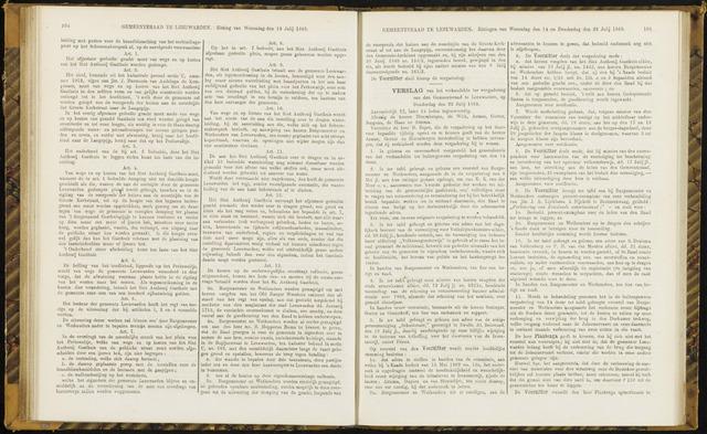 Raadsverslagen van de gemeente Leeuwarden, 1865-2007 (Notulen) 1869-07-22