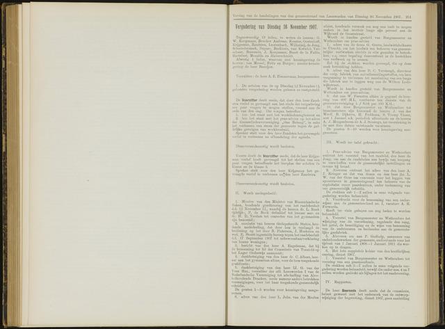 Raadsverslagen van de gemeente Leeuwarden, 1865-2007 (Notulen) 1907-11-26