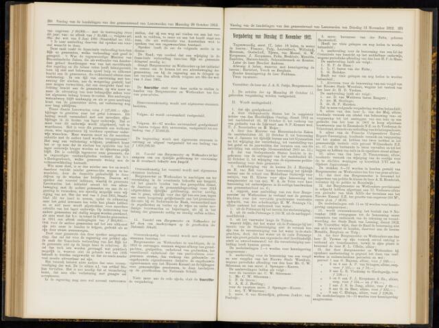 Raadsverslagen van de gemeente Leeuwarden, 1865-2007 (Notulen) 1912-11-12