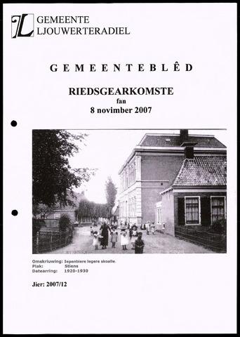 Notulen van de gemeenteraad van Leeuwarderadeel 2007-11-08