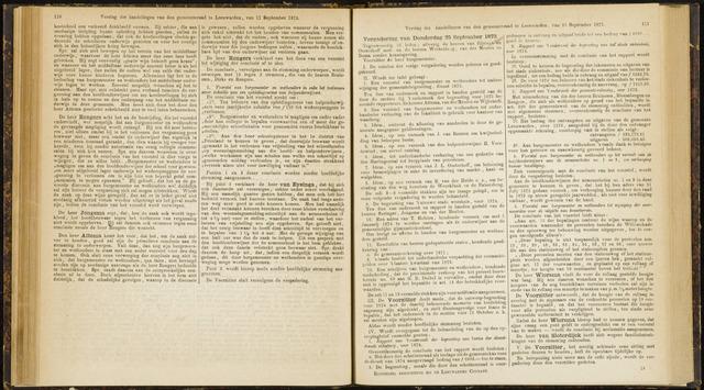 Raadsverslagen van de gemeente Leeuwarden, 1865-2007 (Notulen) 1873-09-25