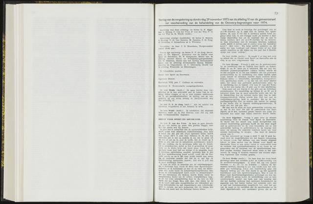 Raadsverslagen van de gemeente Leeuwarden, 1865-2007 (Notulen) 1973-11-29