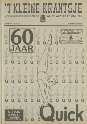 't Kleine Krantsje, 1964-1997 1980-10-25