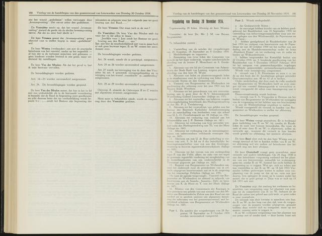 Raadsverslagen van de gemeente Leeuwarden, 1865-2007 (Notulen) 1934-11-20