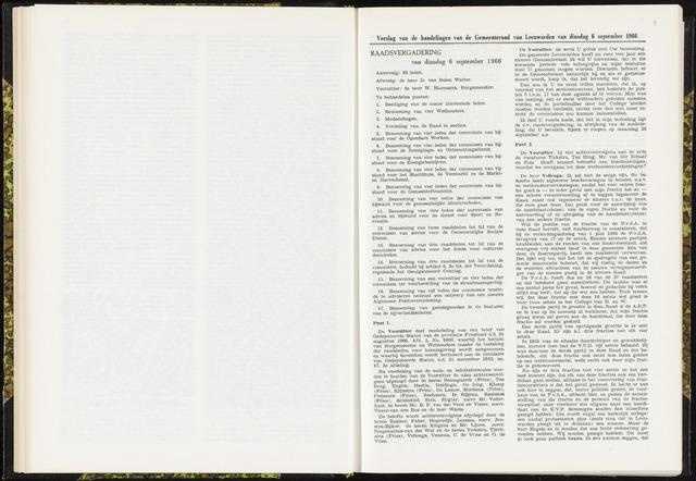 Raadsverslagen van de gemeente Leeuwarden, 1865-2007 (Notulen) 1966-09-06