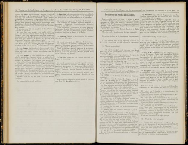 Raadsverslagen van de gemeente Leeuwarden, 1865-2007 (Notulen) 1908-03-24