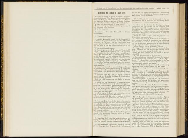 Raadsverslagen van de gemeente Leeuwarden, 1865-2007 (Notulen) 1919-03-11