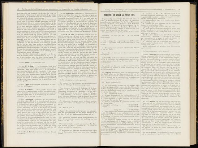 Raadsverslagen van de gemeente Leeuwarden, 1865-2007 (Notulen) 1925-02-24