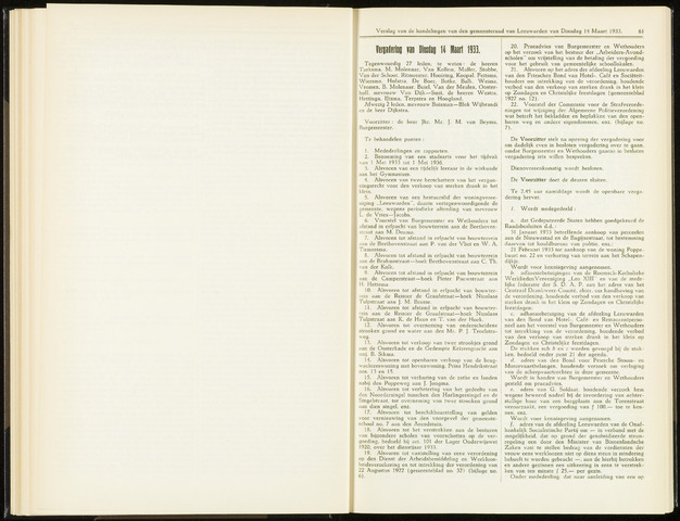 Raadsverslagen van de gemeente Leeuwarden, 1865-2007 (Notulen) 1933-03-14