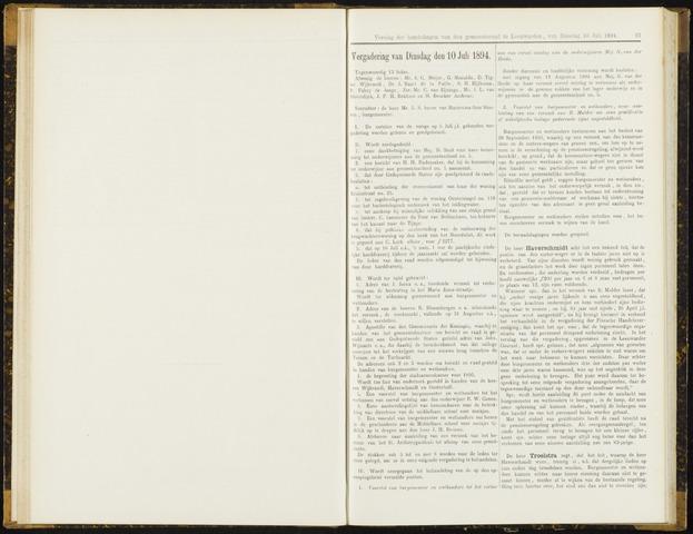 Raadsverslagen van de gemeente Leeuwarden, 1865-2007 (Notulen) 1894-07-10