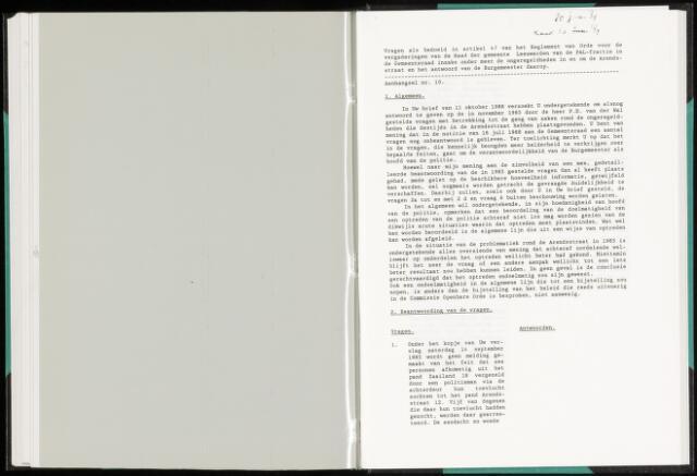 Raadsverslagen van de gemeente Leeuwarden, 1865-2007 (Schriftelijke vragen) 1989-01-01