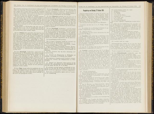 Raadsverslagen van de gemeente Leeuwarden, 1865-2007 (Notulen) 1914-10-27