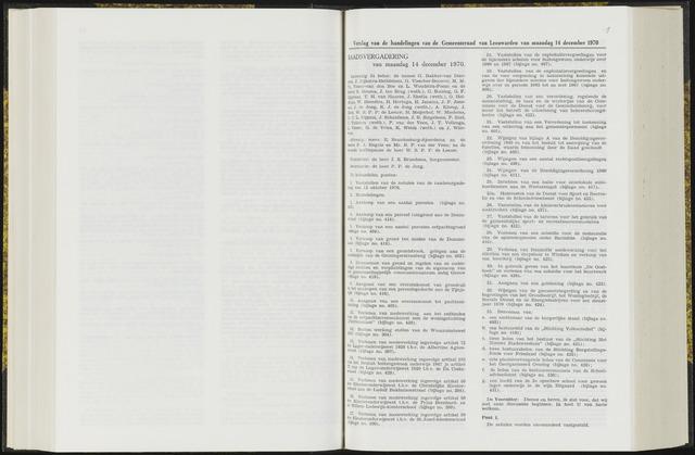 Raadsverslagen van de gemeente Leeuwarden, 1865-2007 (Notulen) 1970-12-14