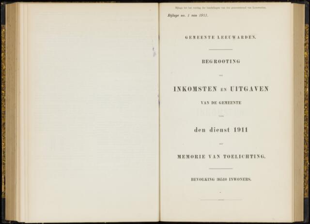 Raadsverslagen van de gemeente Leeuwarden, 1865-2007 (Bijlagen) 1911-01-01