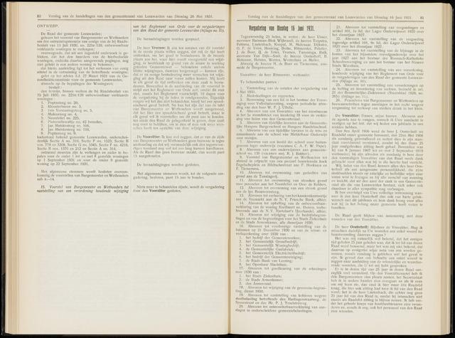 Raadsverslagen van de gemeente Leeuwarden, 1865-2007 (Notulen) 1931-06-16