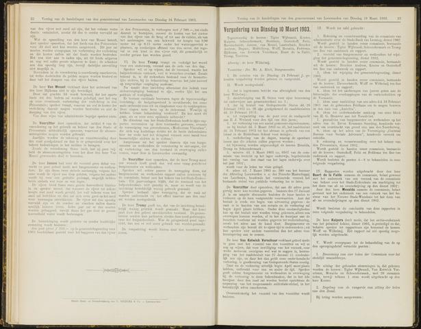 Raadsverslagen van de gemeente Leeuwarden, 1865-2007 (Notulen) 1903-03-10
